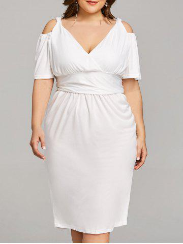 New Plus Size Open Shoulder Low Cut Dress