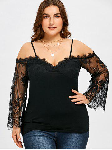 0bf0a16a1e5ebe Plus Size Bell Sleeve Blouse - Free Shipping, Discount And Cheap ...