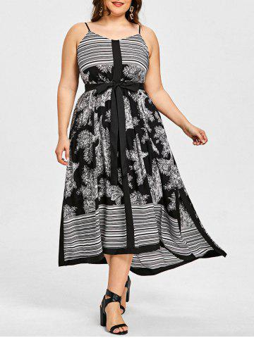 Buy Stripe Floral Plus Size Slip Dress