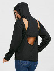 Cut Out Back Hoodie -