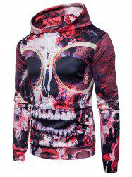 Skull 3D Print Gothic Pullover Hoodie -