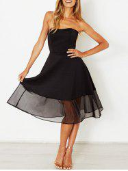 Strapless A Line Party Dress -