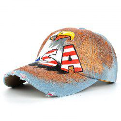 Unique Hand Drawing Eagle Pattern Baseball Cap -