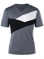 V Neck Form Fitting T-shirt -