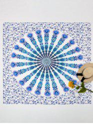 Rectangle Mandala Vortex Beach Throw -