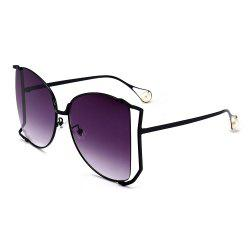 Cut Out Lens Metal Oversized Square Sunglasses -
