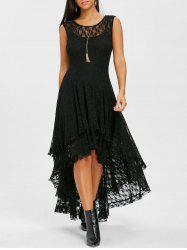 Tiered Lace High Low Dress -