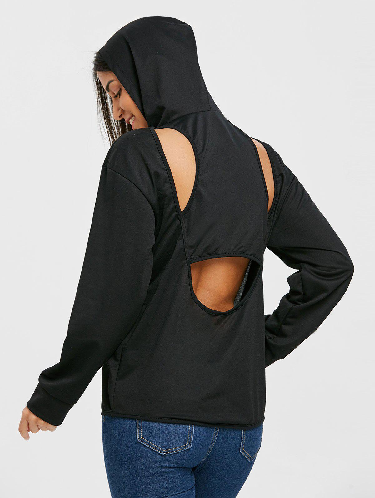 Latest Cut Out Back Hoodie