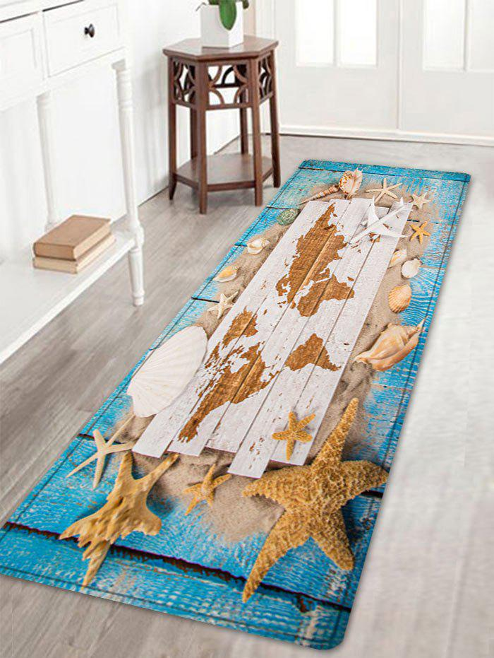 Chic Sand Starfish Shell Pattern Water Absorption Area Rug