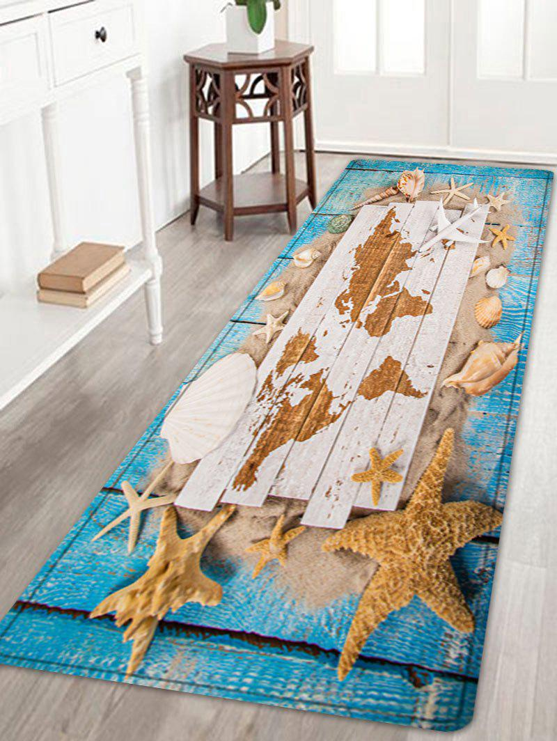 Outfits Sand Starfish Shell Pattern Water Absorption Area Rug