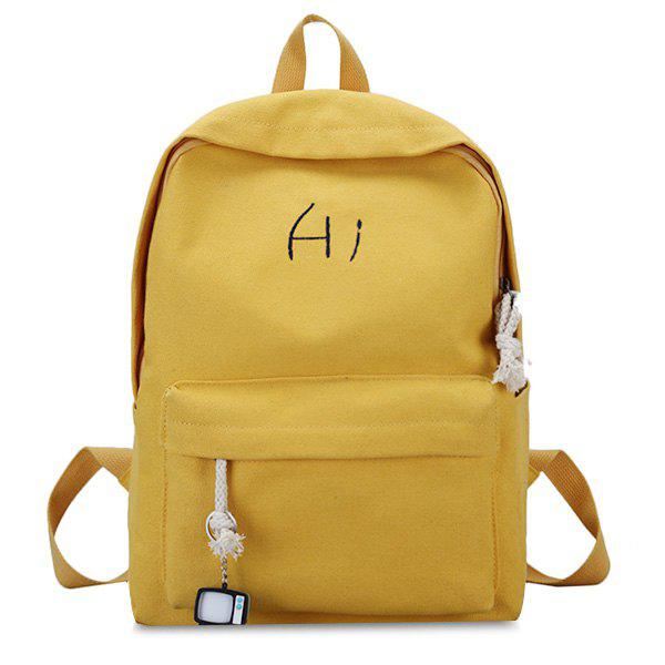 Online Pendant Letter Multi Usage Backpack