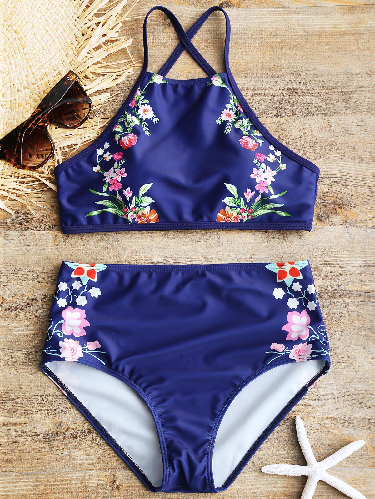 Store High Rise Floral Bathing Suit