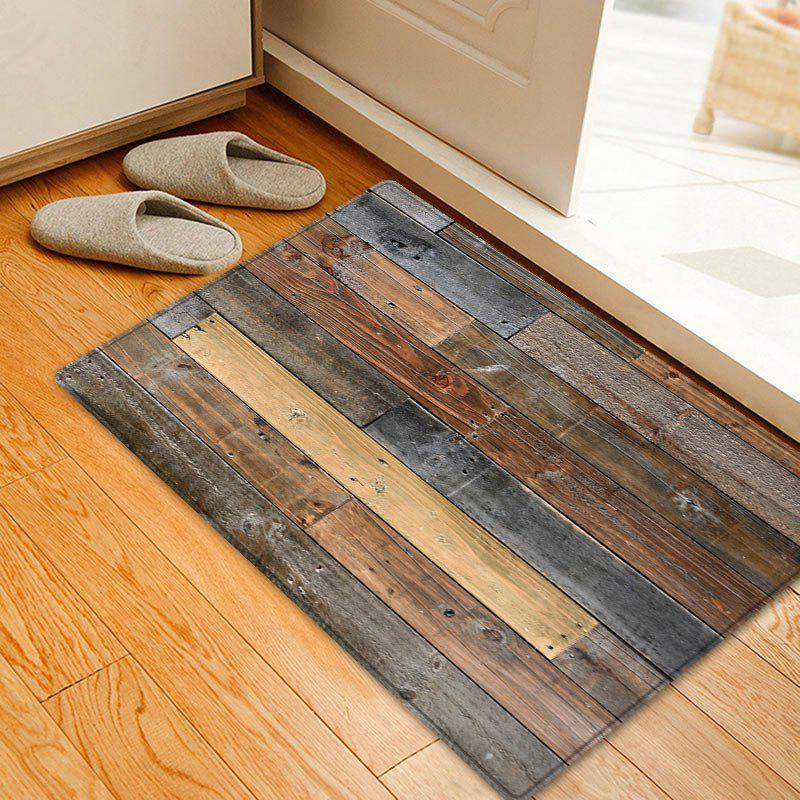 Outfit Joint Wood Board Pattern Water Absorption Area Rug