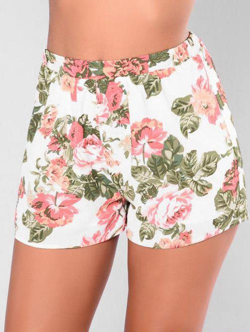 Affordable Elastic Waisted Floral Shorts