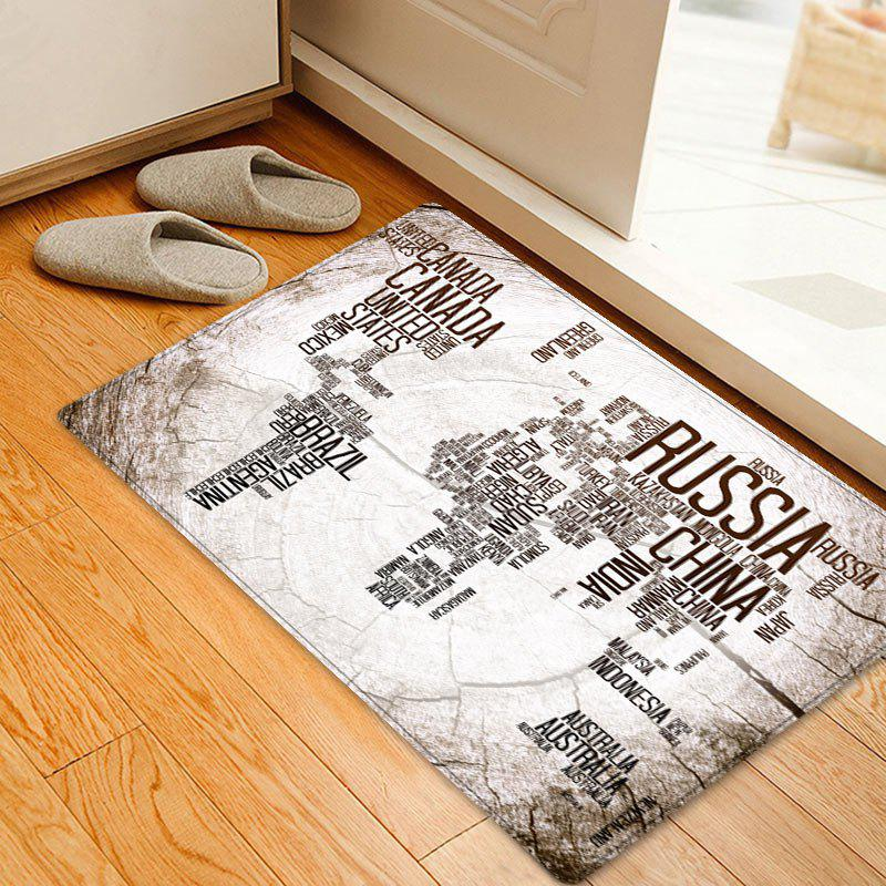 White w16 inch l24 inch retro english world map indoor outdoor fashion retro english world map indoor outdoor area rug gumiabroncs Gallery