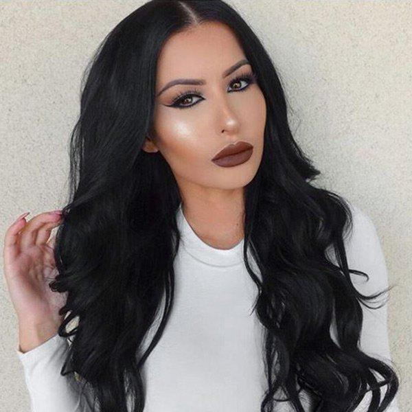 Cheap Long Center Part Wavy  Synthetic Wig