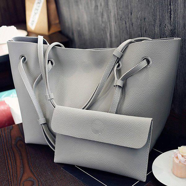 Outfit Magnetic Textured Leather Shoulder Bag