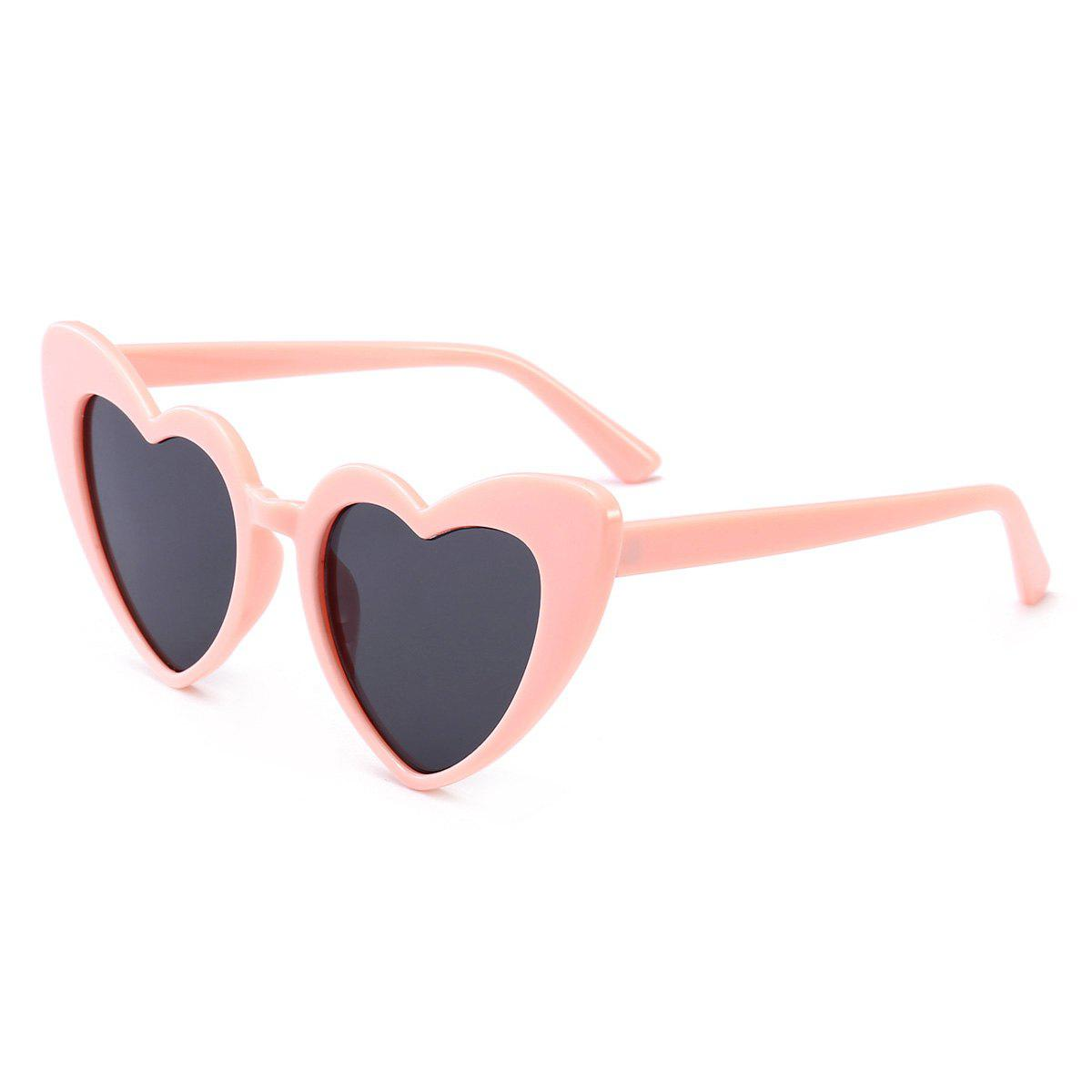 Trendy Full Frame Heart Shape Sunglasses