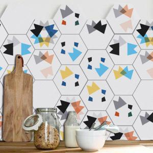 Hexagon Shape Geometric 10PCS Wall Stickers -