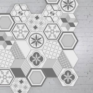 10pcs hexagone forme géométrique autocollants de carreaux de mur -