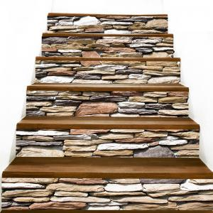 Stones Wall Pattern Decorative Stair Stickers -