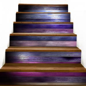 Wood Flooring Pattern Decorative Stair Stickers -