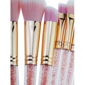 Professionnel 8 Pcs Faux Cristal Zircon Fiber Cheveux Maquillage Brush Set -