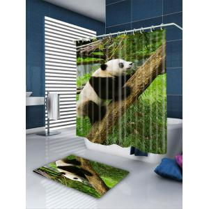 Climbing Tree Panda Patterned Bathroom Shower Curtain -