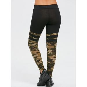 Striped Camouflage Sports Leggings -