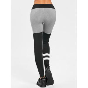 Color Block High Waist Sports Leggings -