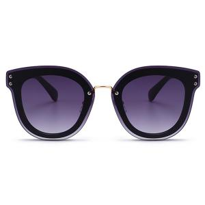 Unique Full Frame Nose Pad Oversized Sunglasses -