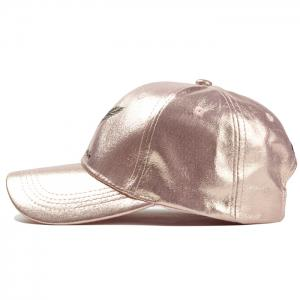 Vintage Feather Embroidery Faux Leather Baseball Hat -