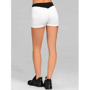 Two Tone Elastic Waist Workout Shorts -