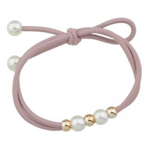 Cute Multilayered Faux Pearl Elastic Hair Band -