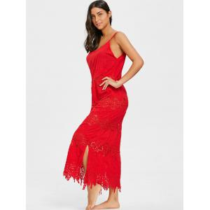 Crochet Slip Maxi Cover Up Dress -