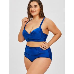 Twist Plus Size High Rise Push Up Bikini -