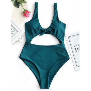 High Rise Cut Out Front Tied Swimwear -