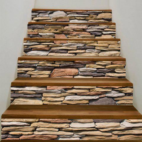 Latest Stones Wall Pattern Decorative Stair Stickers