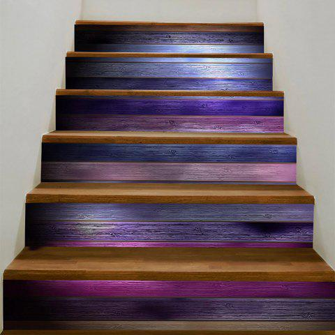 Fancy Wood Flooring Pattern Decorative Stair Stickers