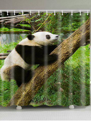 Cheap Climbing Tree Panda Patterned Bathroom Shower Curtain