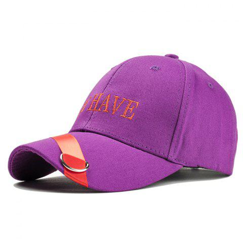 Unique BE HAVE Embroidery Ribbon Ring Decorated Baseball Hat