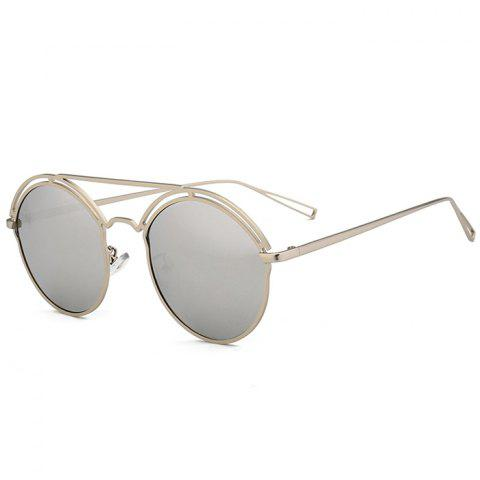 New Unique Hollow Out Metal Full Frame Oval Sunglasses