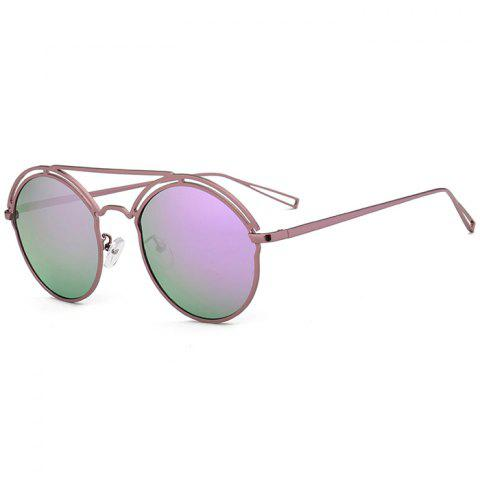 Buy Unique Hollow Out Metal Full Frame Oval Sunglasses