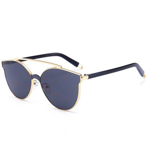 Online Stylish Crossbar Decorated Metal Full Frame Cat Eye Sunglasses