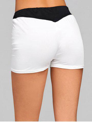 Buy Two Tone Elastic Waist Workout Shorts