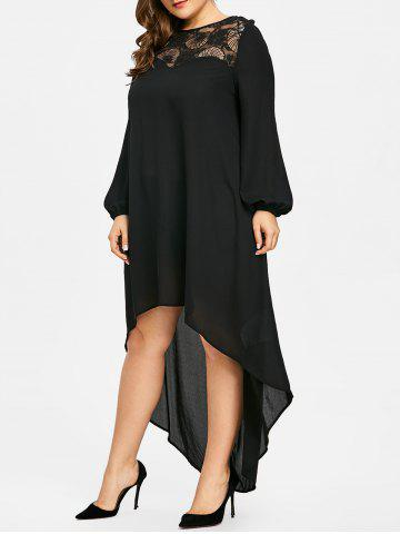 34% OFF] Plus Size High Low Maxi Party Dress | Rosegal