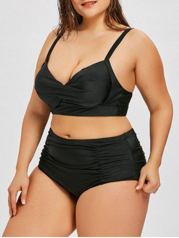 Online Twist Plus Size High Rise Push Up Bikini