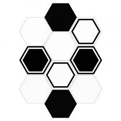 Hexagon Shape 10Pcs Stickers muraux -