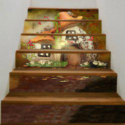 Mushroom House Printed Stair Stickers -