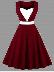 Plus Size Sweetheart Sleeveless Party Dress -